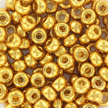 Miyuki Rocailles 6/0 Duracoat galvanized goud