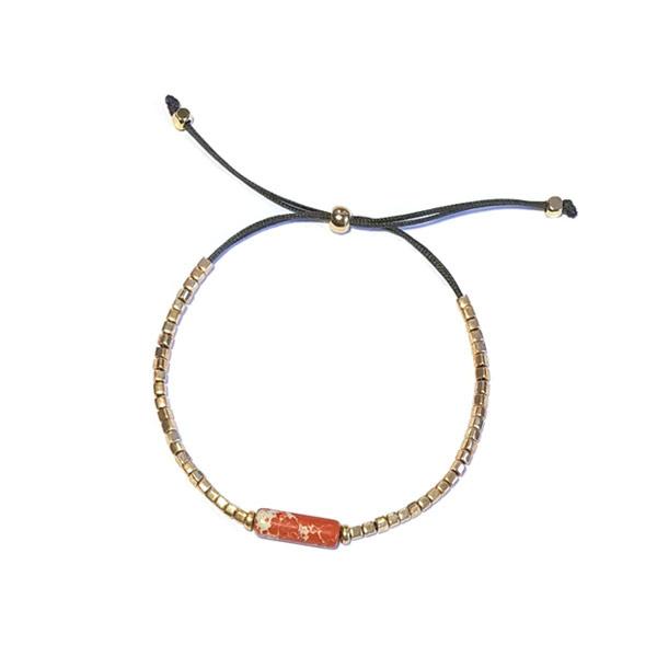 Armband Miyuki Oranje goud