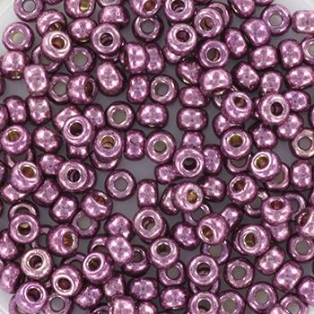 Miyuki Rocailles 8/0 Duracoat galvanized eggplant paars