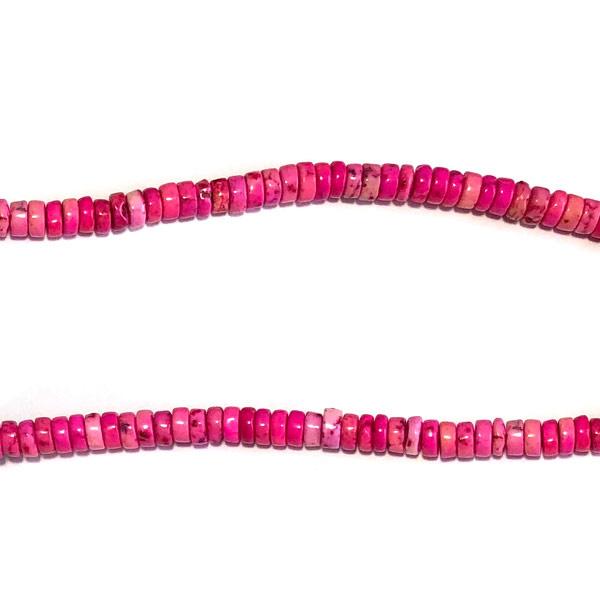Schijfje half edelsteen roze howliet