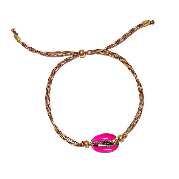 Armband Kauri Fuchsia roze Koord
