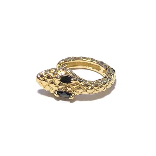 Single Oorbel snake goud oog kristal