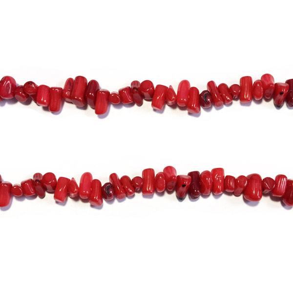 Bamboe Koraal rood Half edelsteen kraal
