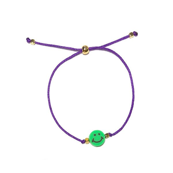 Lucky bracelet Smiley Groen