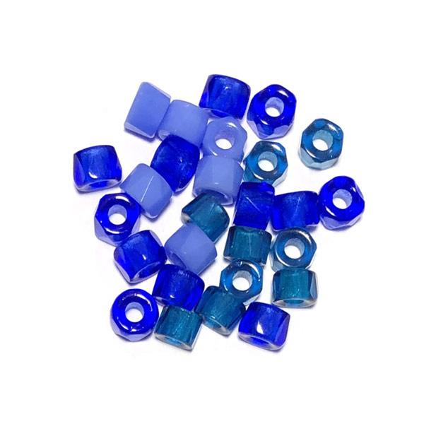 Glaskraal groot gat Blauw