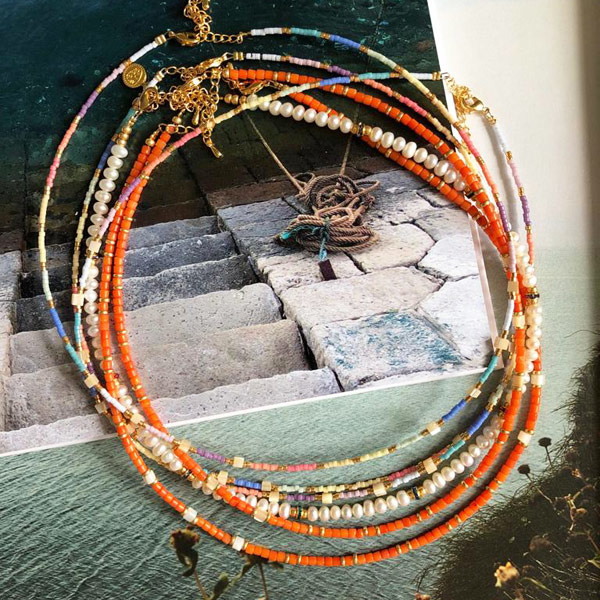 Ketting Bamboe Koraal schelp