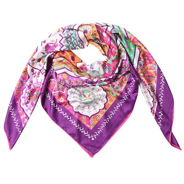 Sjaal Roze paars bloemen