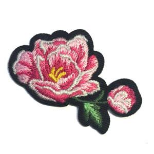 Patch - Strijkplaatje Roos Bloem Roze