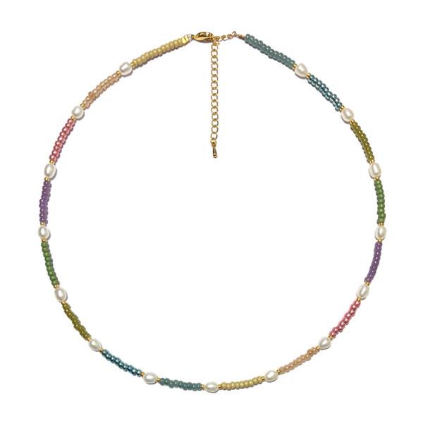 Parelketting Rainbow metallic