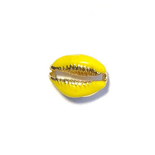 Kauri schelpje Goud Geel