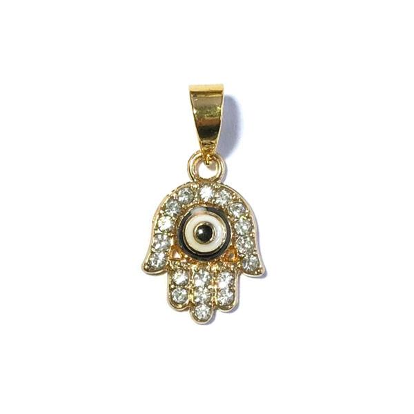 Bedel Evil eye kristal goud