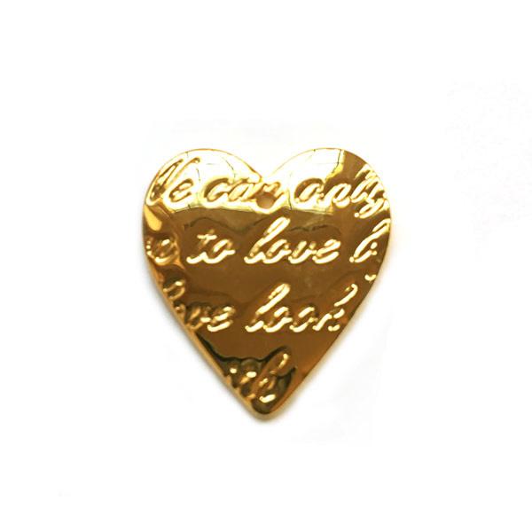 Bedel verguld goud hart love