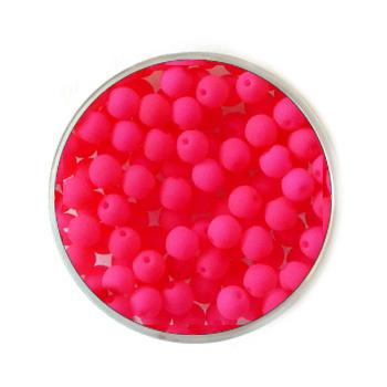 Doosje neon Roze kralen 4mm