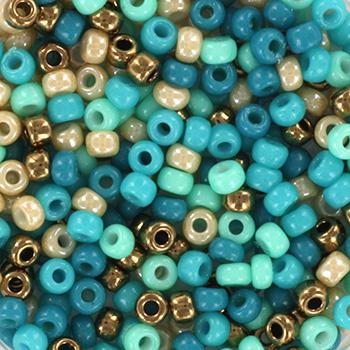 Miyuki Rocailles 8/0 Turkoois blauw groen