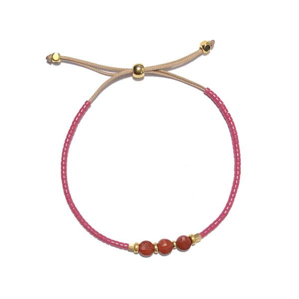 Armband koord Raspberry Miyuki delica