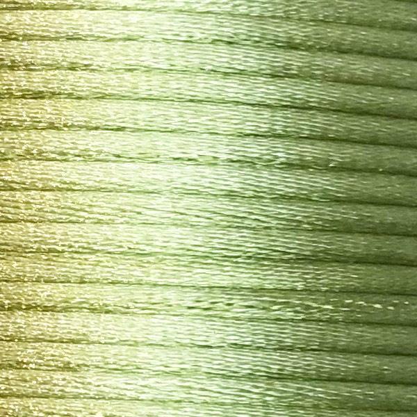 Satijnkoord 2,5mm Licht groen cartierknoop