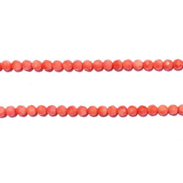 Facetkraal koraal roze Half Edelsteen