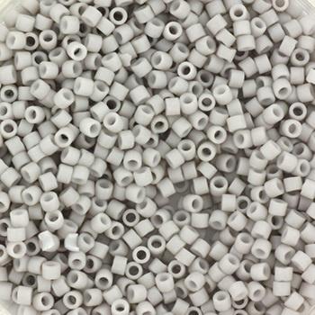 Miyuki Delica mat smokey grey 2mm