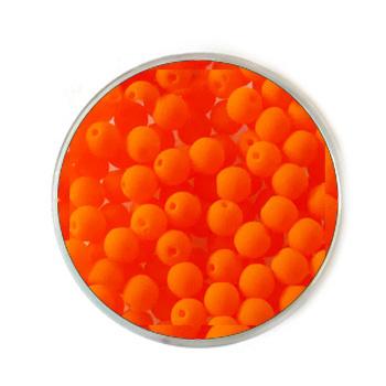 Doosje neon Oranje kralen 4mm