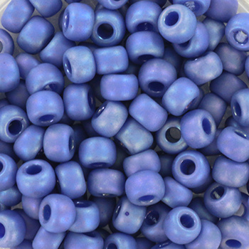 Miyuki Rocailles 6/0 Opaque glazed frosted blauw