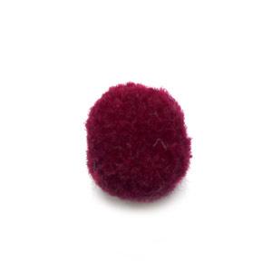 Pompom bordeaux rood