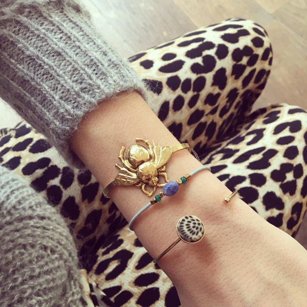 Panter steen bangle Leopard