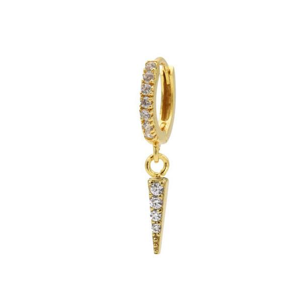 Single oorring Cone goud zirconia