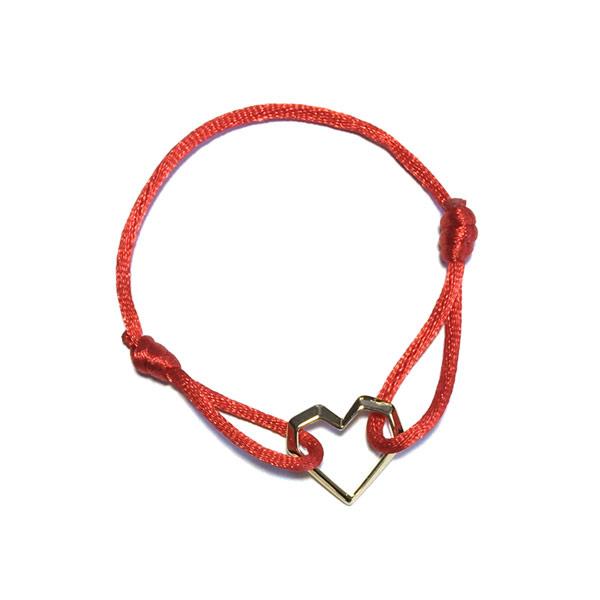Armband Rood hart Cartierknoop