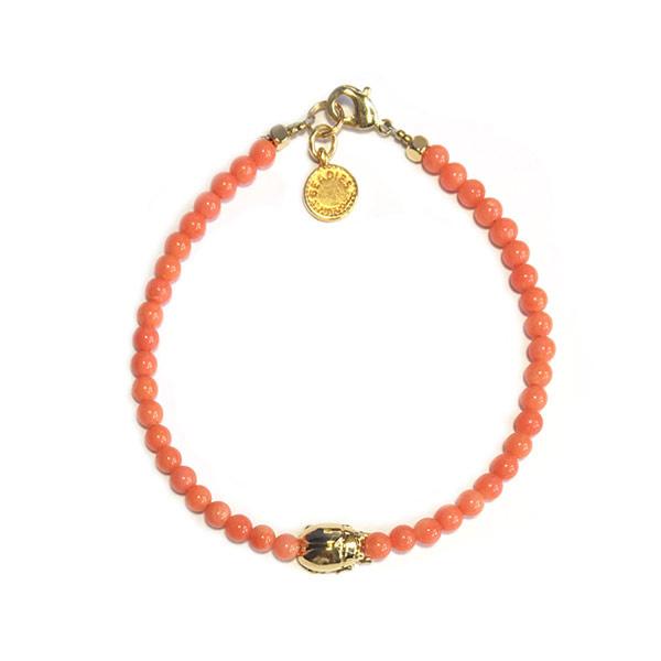 Armband Scarabee koraal roze