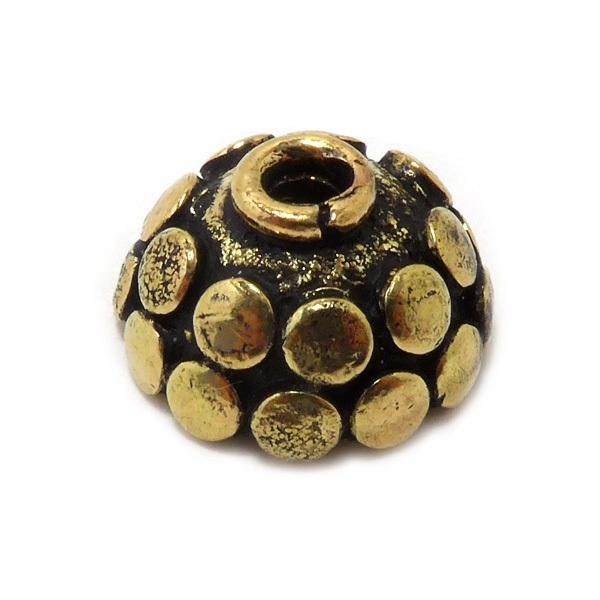 kapje stippen antiek goud