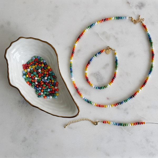 DIY pakket sieraden maken Rainbow ketting & armband