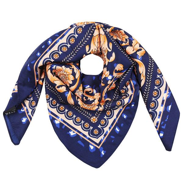 Sjaal blauw panter bloemen