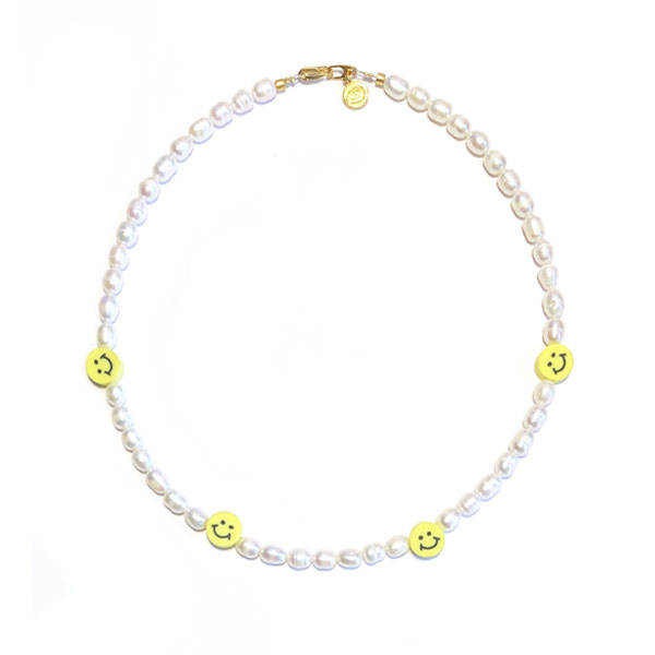Smiley Ketting Zoetwaterparel