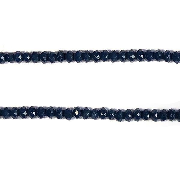 Jade donkerblauw facet kraal half edelsteen