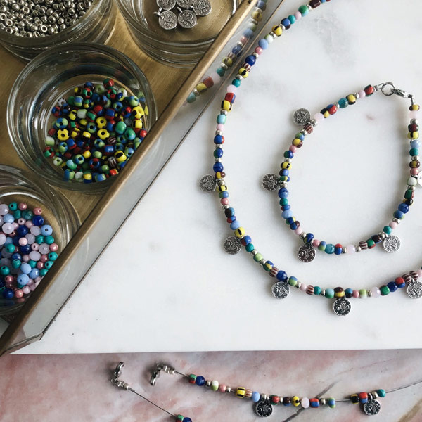 DIY Starterspakket sieraden maken Zilver Muntjes ketting en armbandjes