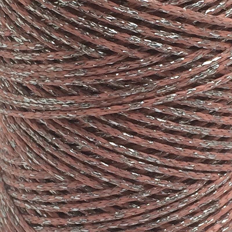 Waxkoord Roze Zilver