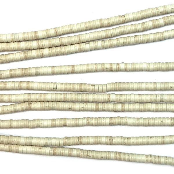 Streng kralen Howliet Beige 39-40 cm