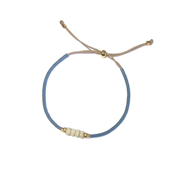 Armband Miyuki Blauw creme turkoois