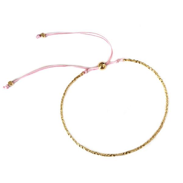 Armband Bangle koord lila
