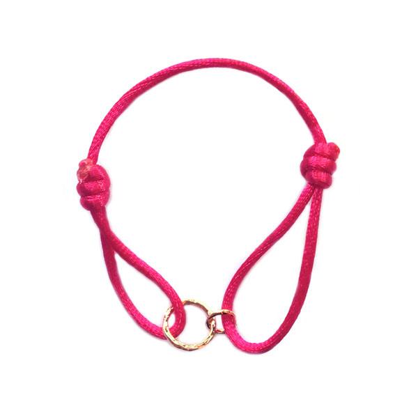 Armband cartierknoop Pink infinity