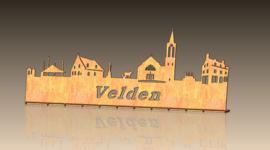 Skyline Velden  met tekst 348 x 138 mm