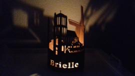 Waxinelichthouder Brielle met tekst