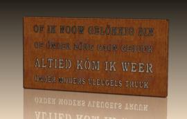Wanddecoratie voor Moederdag Venloos Dialect 454 x 224 x 20mm