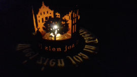 Waxinelicht weej zien jao in Zaerum geboare Ø 152 x 139mm