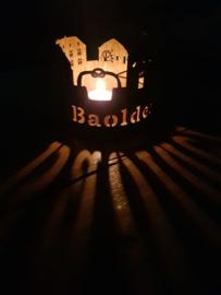 Skyline Baarlo Waxinelicht met Tekst rond 120mm
