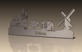 Skyline Uden met Tekst  RVS 452 x 201mm