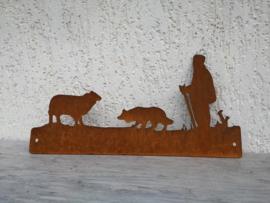 Herder met Border collie 320 x 161mm