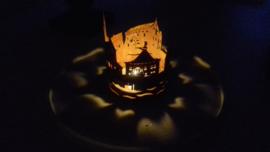 Waxinelichthouder skyline Arcen rond 114mm