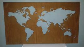 Wereldkaart 1400 x 800 x 25mm