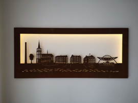 Skyline-Tegelen-Wanddecoratie- 954 x 424 x 22mm